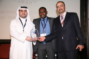 Receiving Social Media Award