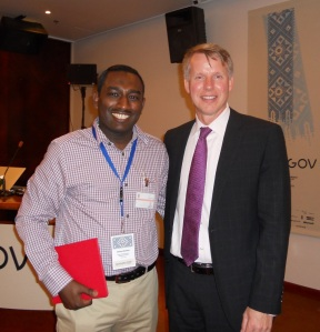 My photo with Chris Vein - Deputy CTO and Head of Open Government Initiative  White House Office of Science and Technology Policy